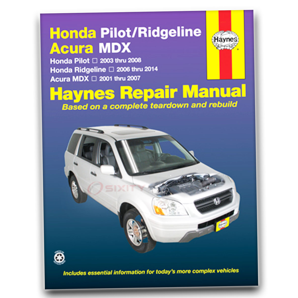 Haynes Repair Manual for Acura MDX Base Touring Shop Service Garage Book me