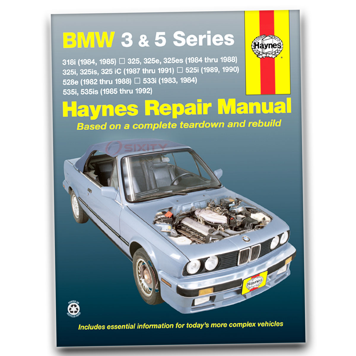 Haynes Repair Manual for BMW 325i Base Shop Service Garage Book nd