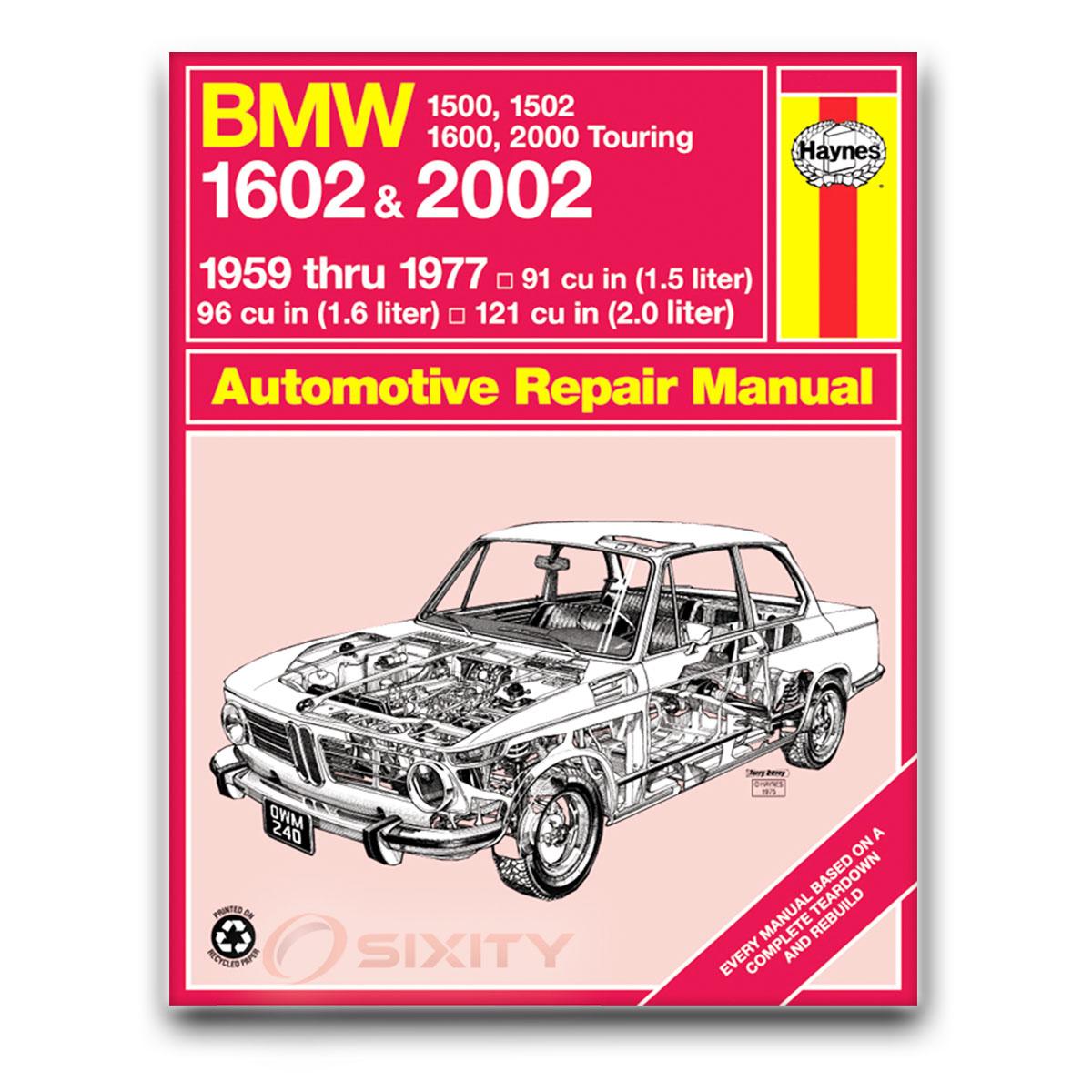 Haynes Repair Manual for BMW 2002 Cabriolet Base Turbo Shop Service Garage  sy