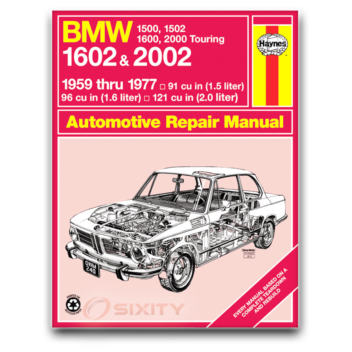 Bmw 2002tii Haynes Repair Manual Base Shop Service Garage