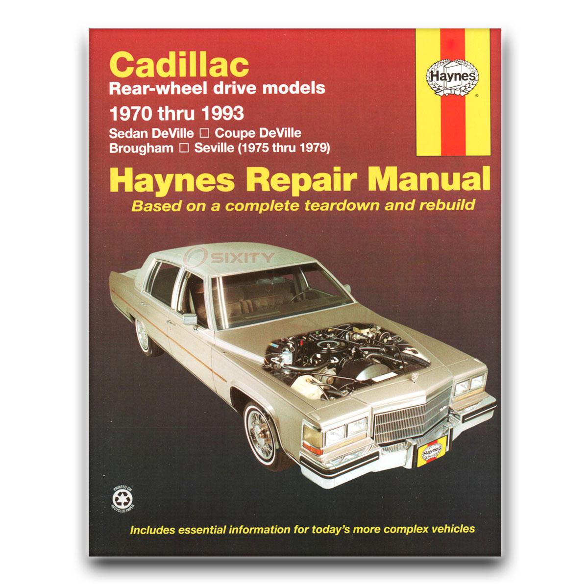 Haynes Repair Manual for Cadillac DeVille Cabriolet Phaeton d'Elegance Base  mi