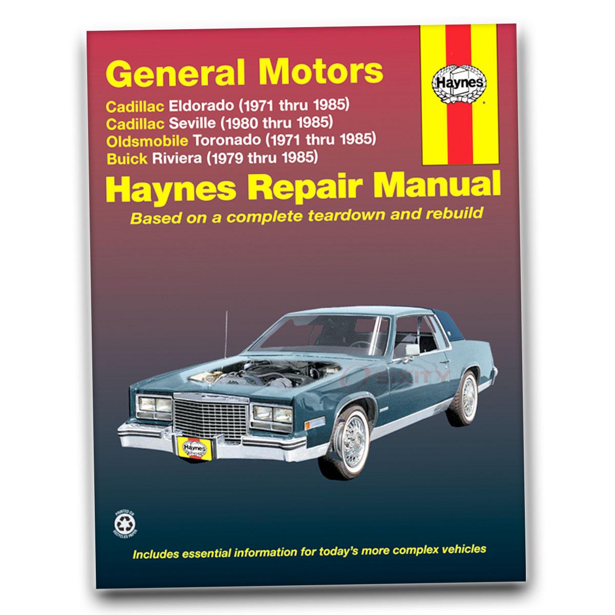 [SCHEMATICS_4CA]  Haynes Repair Manual for 1971-1985 Cadillac Eldorado - Shop Service Garage  ba | eBay | 1985 Cadillac Eldorado Engine Diagram |  | eBay