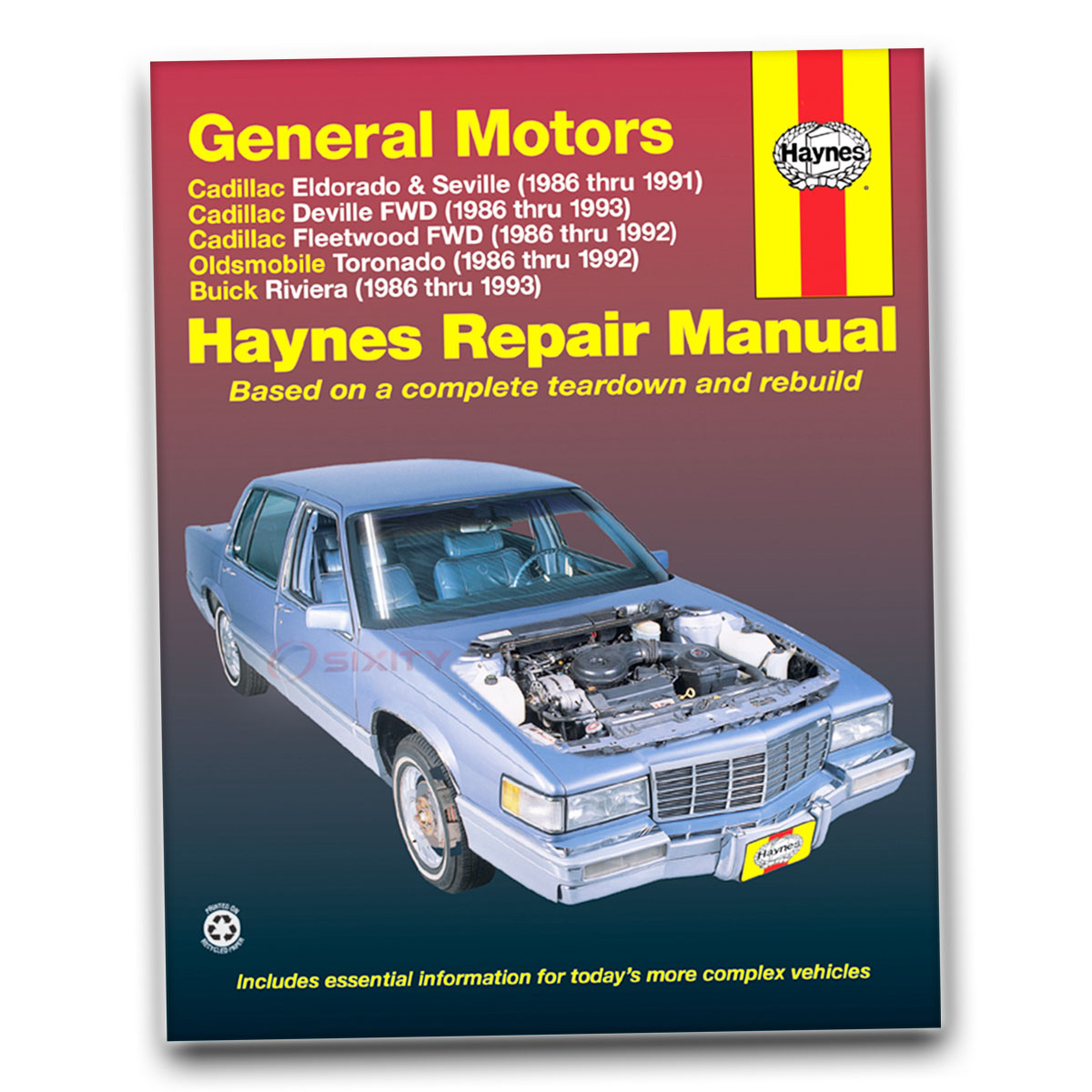 Haynes Repair Manual for Cadillac Fleetwood Brougham d'Elegance 75 60 im