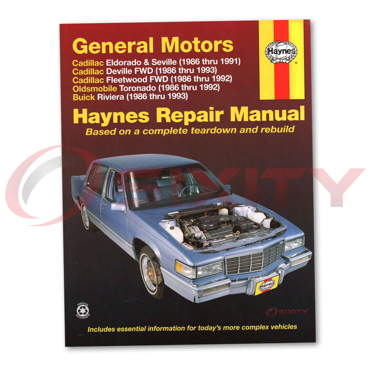 Cadillac Seville Haynes Repair Manual STS Elegante Base Shop Service Garage  xh 1 of 1Only 4 available See More
