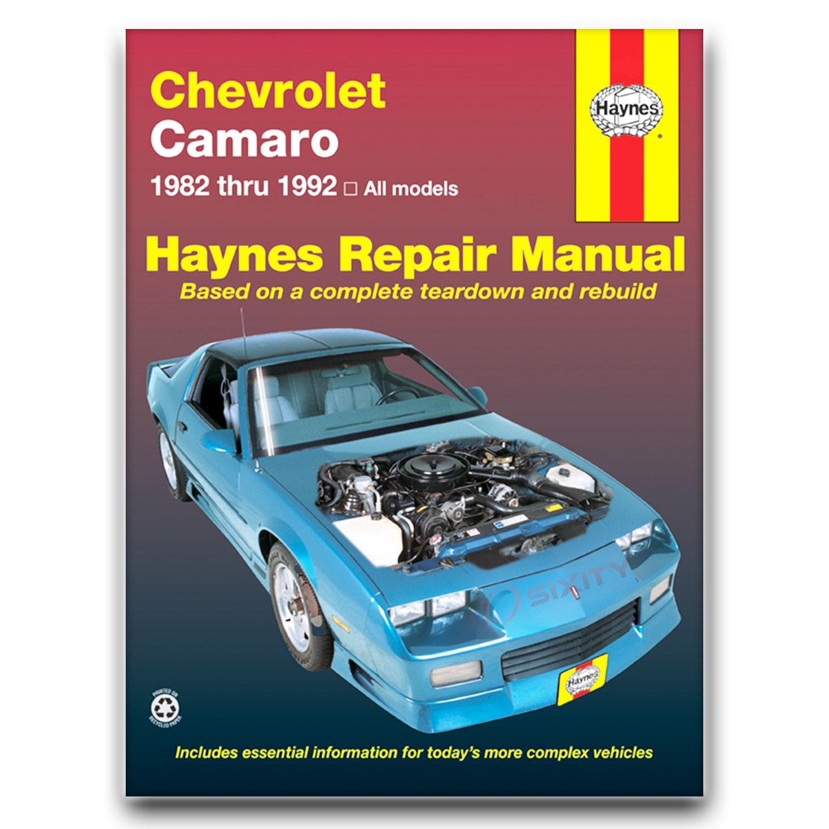 chevy camaro haynes repair manual berlinetta z28 lt sport heritage rh ebay com