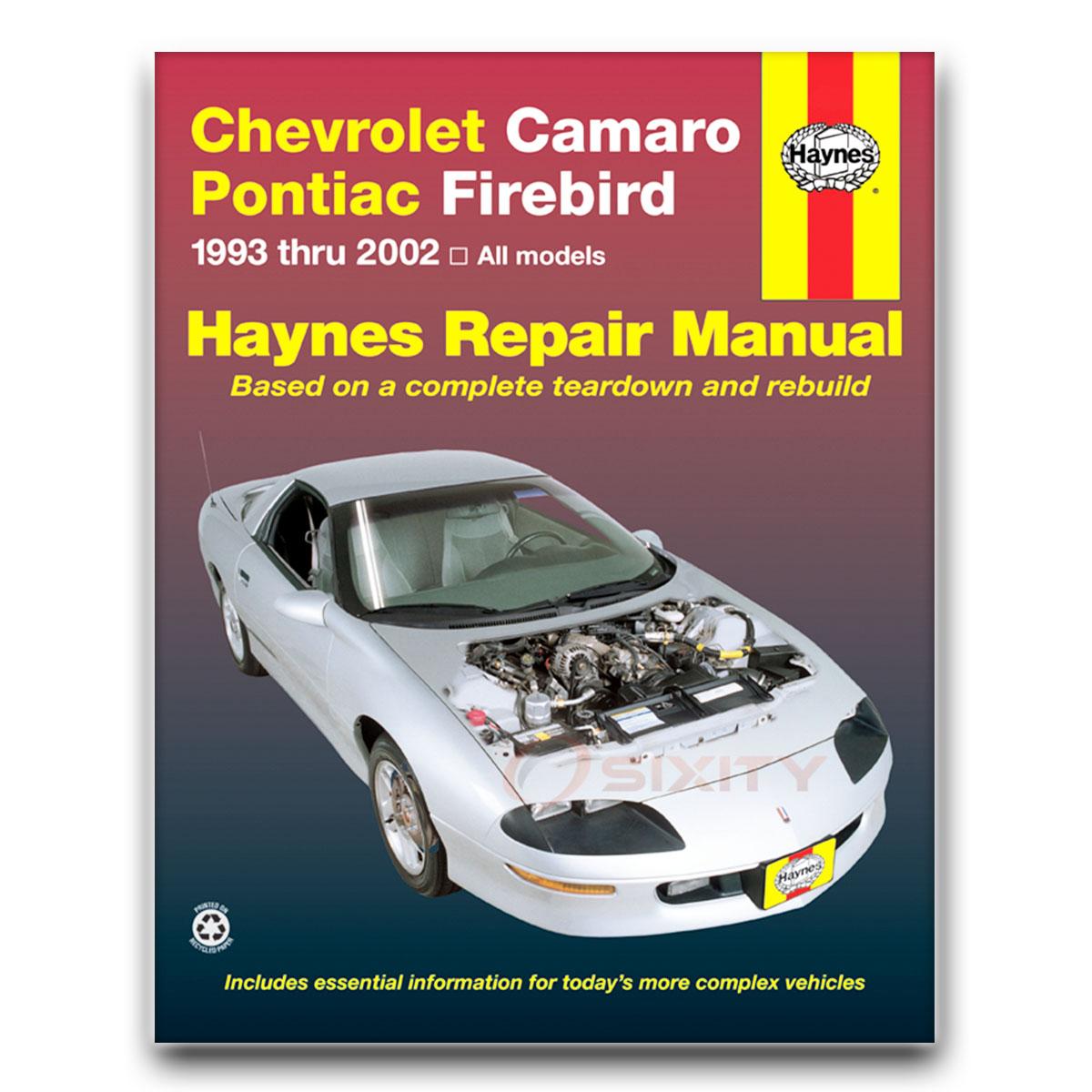 chevy camaro haynes repair manual base z28 ss 30th anniversary rh ebay com Online Repair Manuals Online Repair Manuals