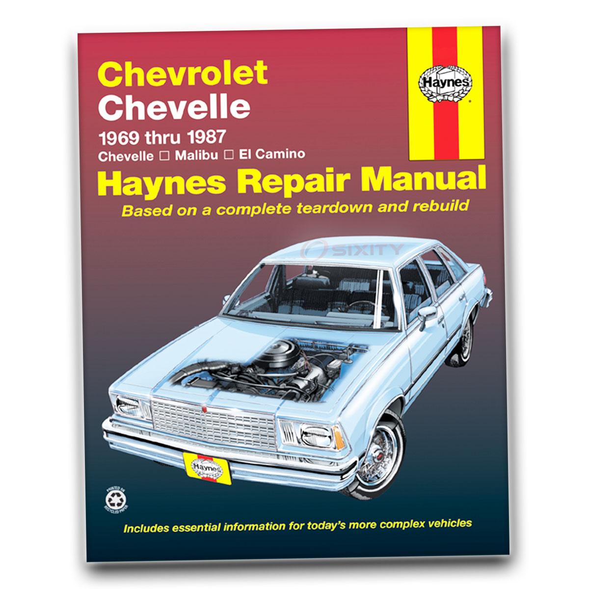 Haynes Repair Manual for Chevy Malibu Landau Estate Classic Sport Police zt