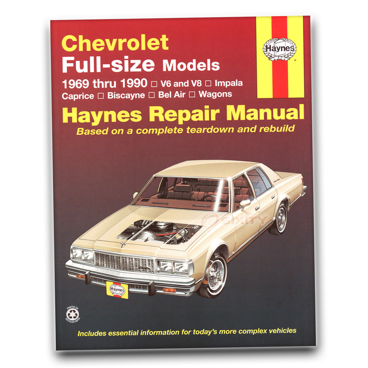 chevy caprice haynes repair manual classic sport base ls brougham rh ebay com 1991 chevy caprice repair manual chevrolet caprice service manual