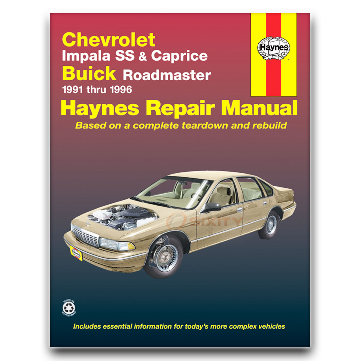 chevy caprice haynes repair manual classic base ltz ls shop service rh ebay com Chevy Caprice Classic Booklet Aftermarket Headlights for 98 Chevy Caprice Wagon