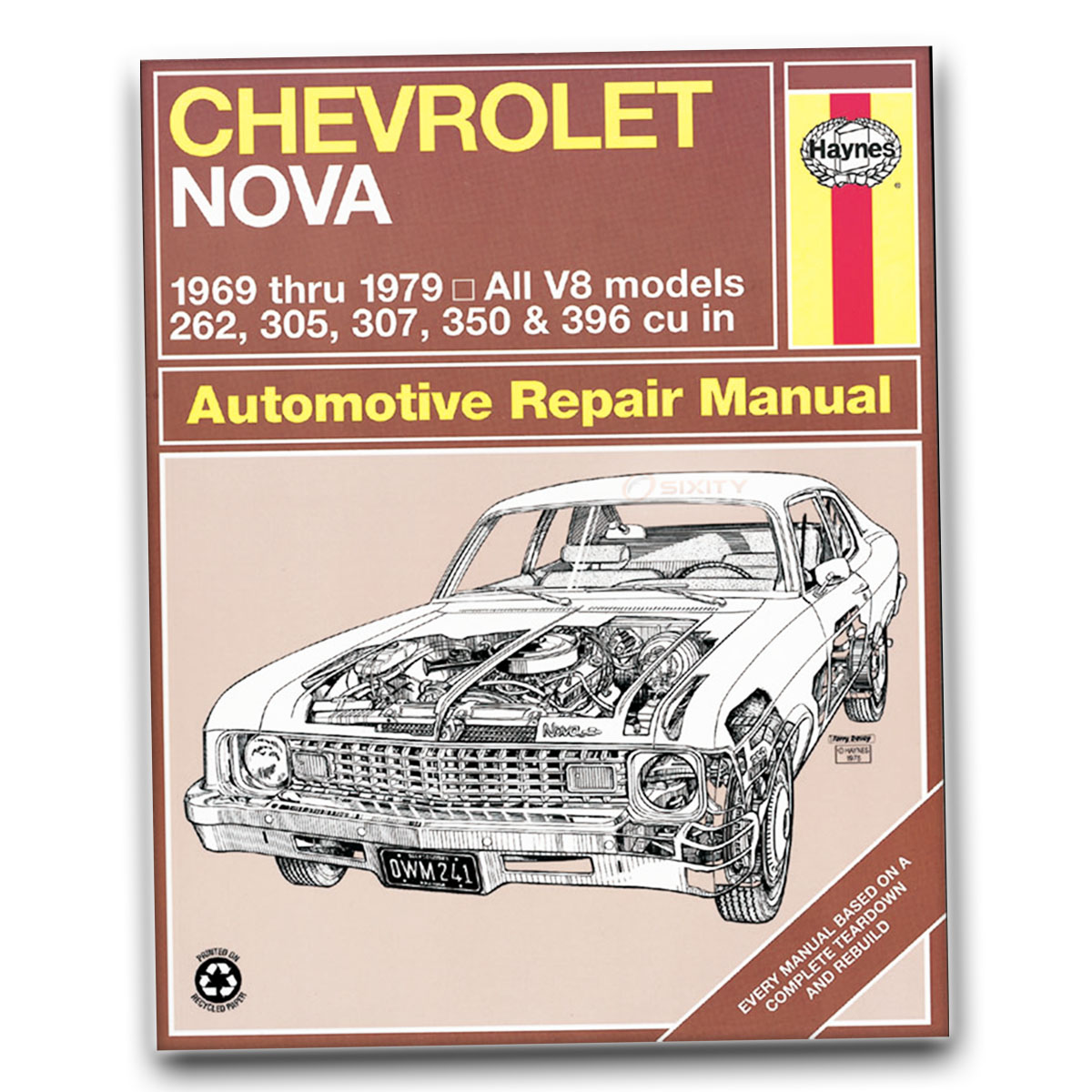 Haynes Repair Manual For Chevy Nova Base Rally SS Police LN Concours