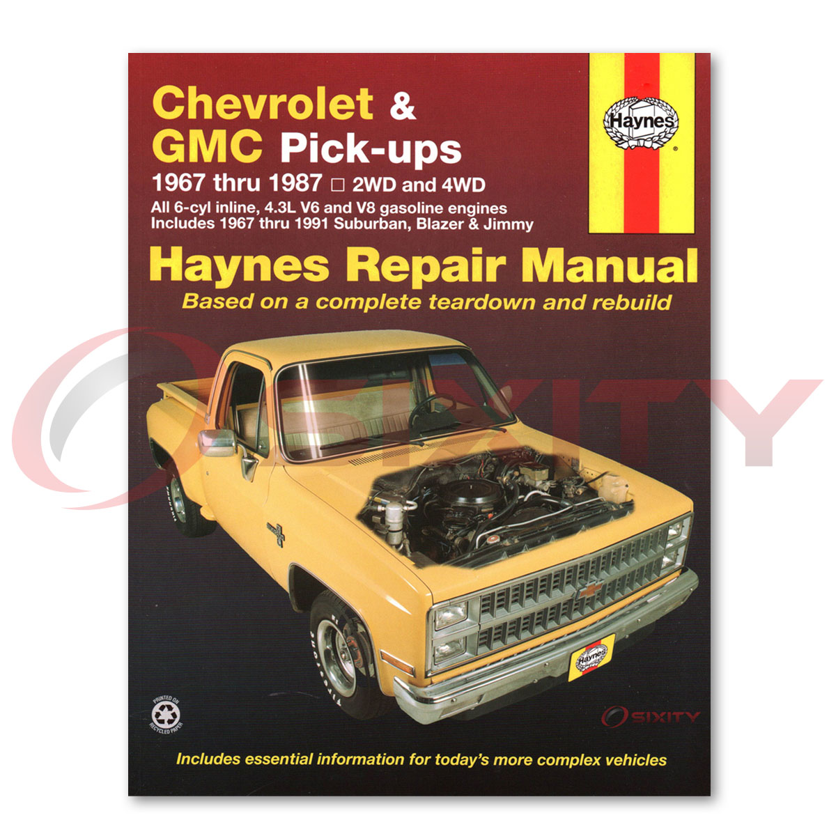 Chevy C10 Haynes Repair Manual Big Ten Custom Deluxe Silverado Cheyenne Vi