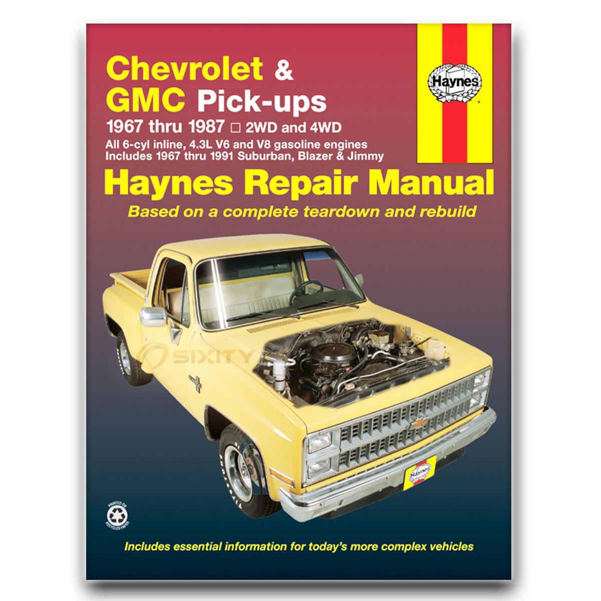 chevy c10 pickup haynes repair manual base shop service garage book rh ebay com chevrolet service manual chevrolet spark maintenance manual