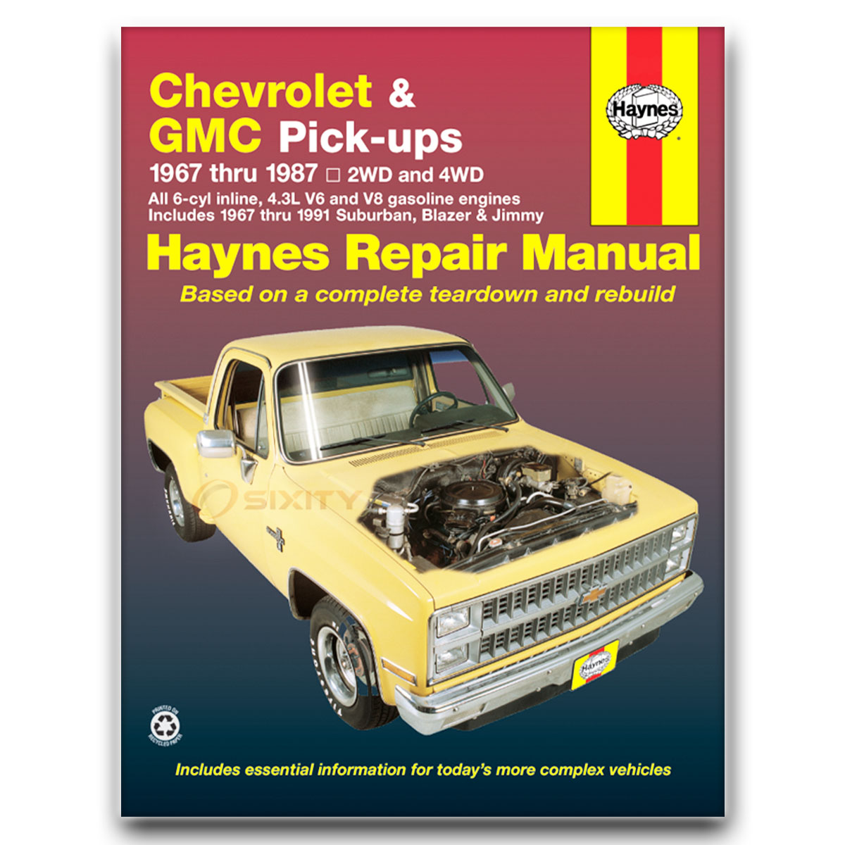 Haynes Repair Manual for Chevy C20 Suburban Custom Deluxe Scottsdale dq
