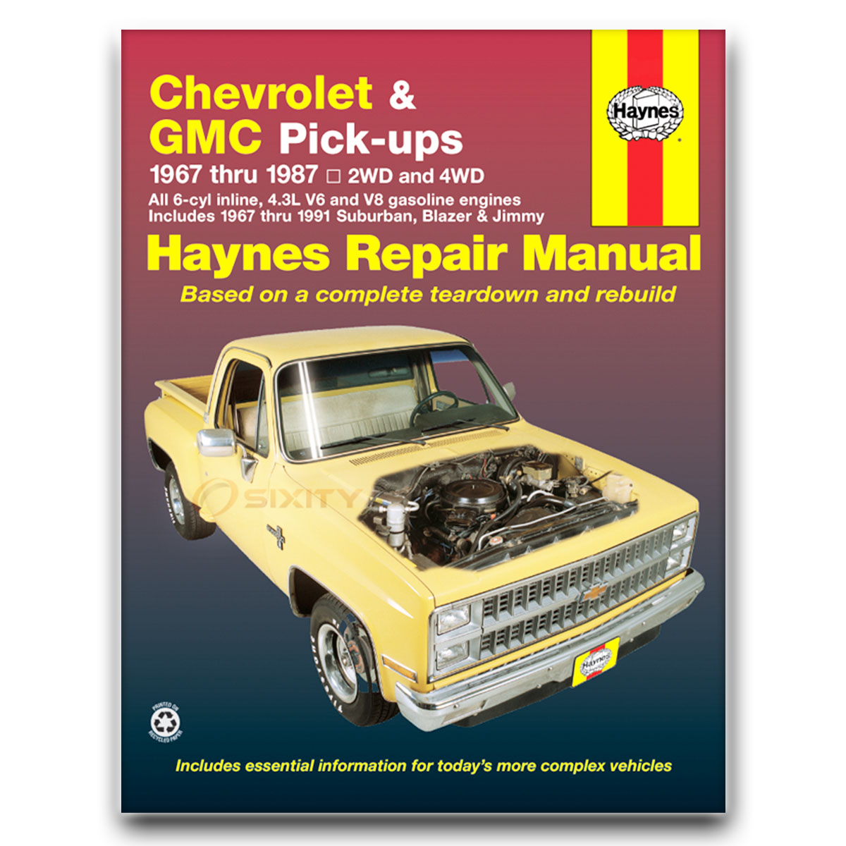 Haynes Repair Manual for Chevy C30 Scottsdale Deluxe Custom Cheyenne ex