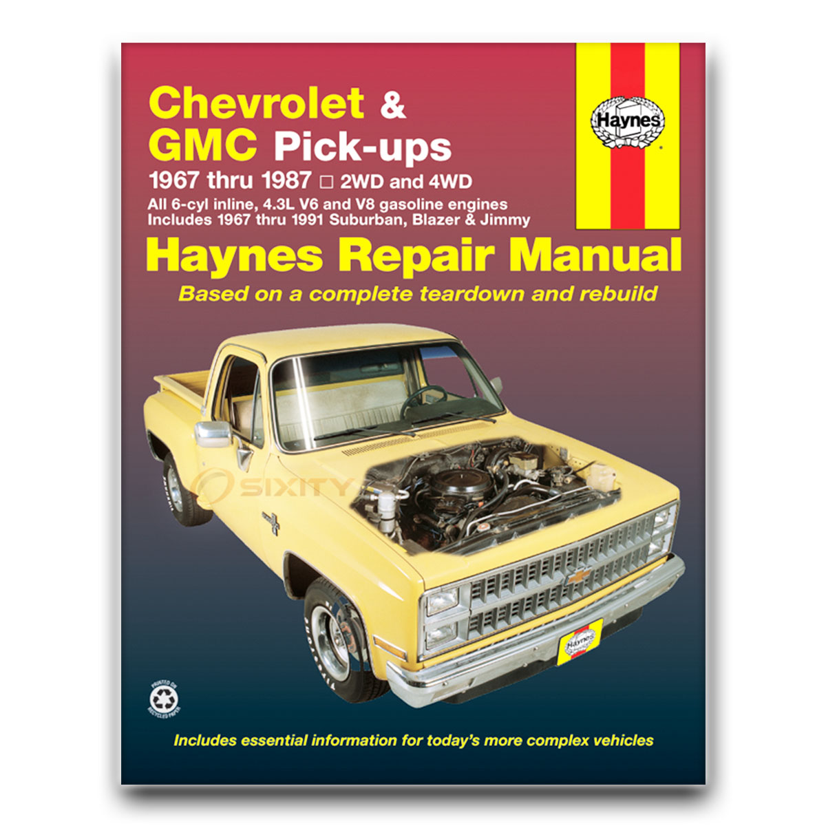 haynes repair manual for chevy k5 blazer deluxe silverado scottsdale rh  ebay com 1995 Geo Prizm 1996 Geo Prizm