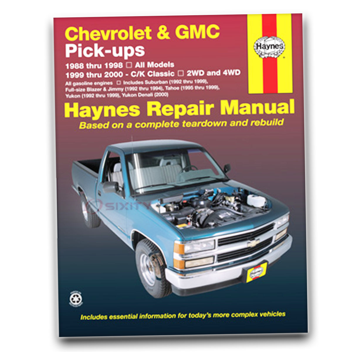 Chevy C2500 Haynes Repair Manual Scottsdale Silverado Cheyenne Base WT Shop  tf
