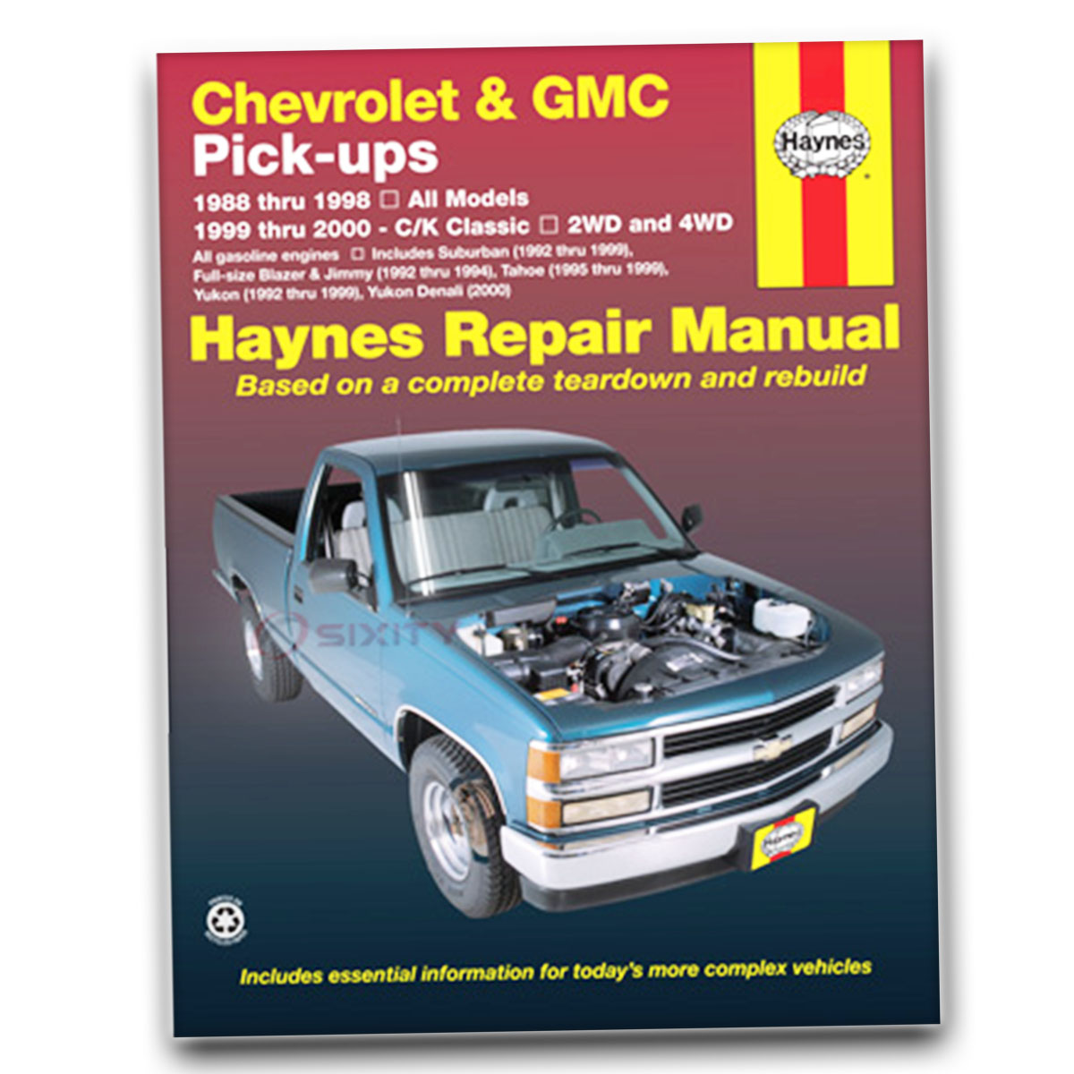 Haynes Repair Manual for Chevy K1500 Suburban LS Silverado LT Base Shop ne