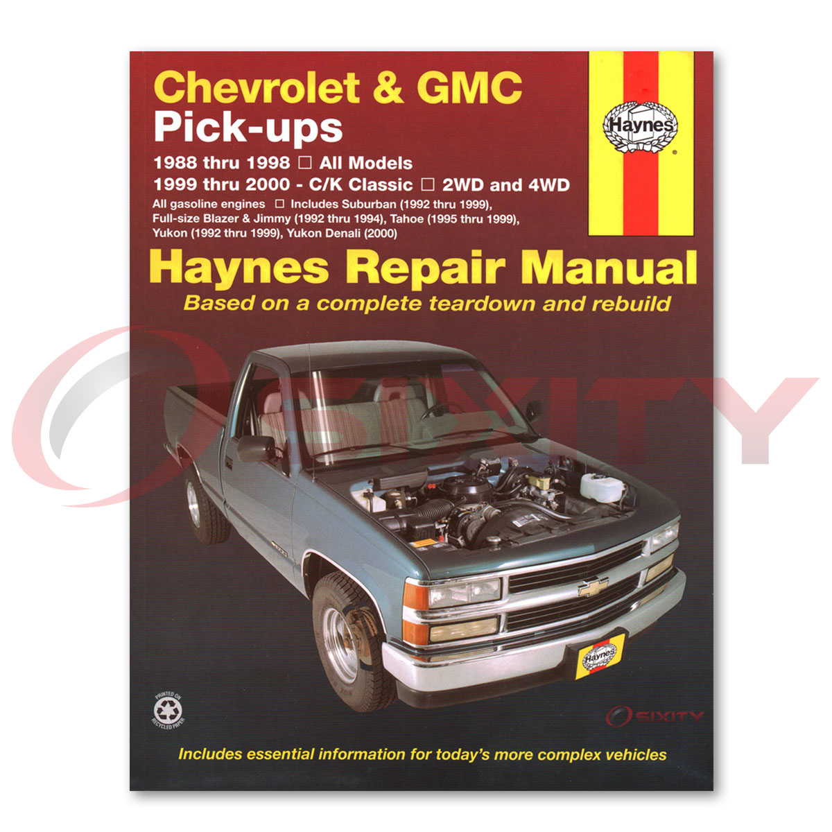 Chevy K2500 Haynes Repair Manual Base Silverado Wt