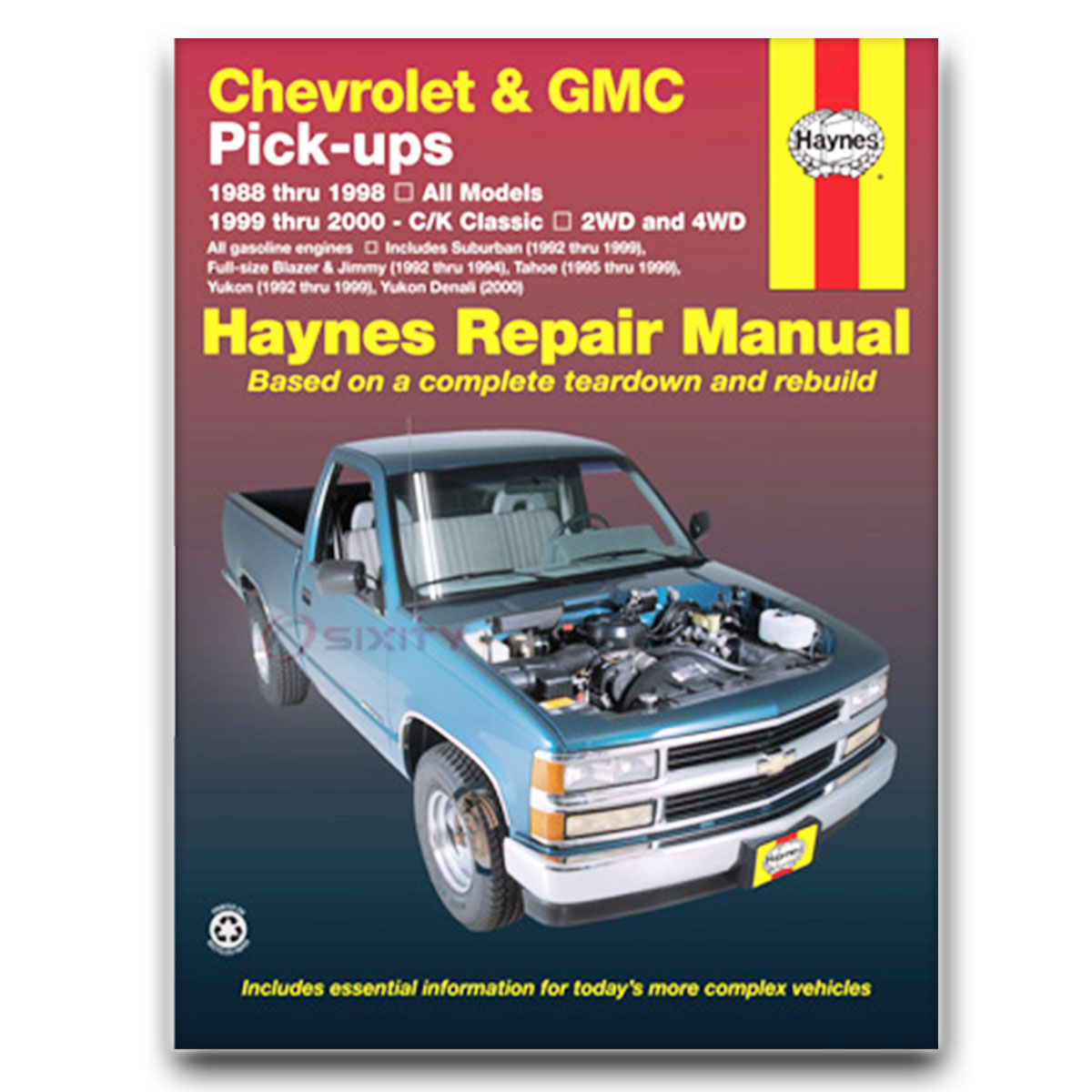 Haynes Repair Manual for Chevy K2500 Suburban LT Silverado LS Base Shop sg