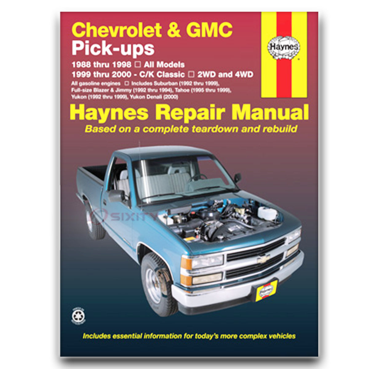 Haynes Repair Manual for Chevy Tahoe Base LS LT Shop Service Garage Book zq