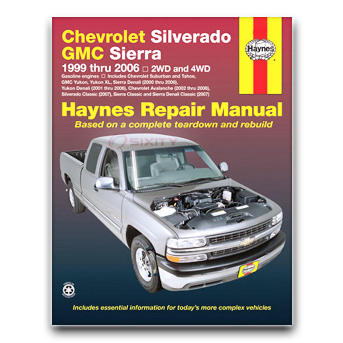 Haynes Repair Manual for Chevy Silverado 1500 LT Classic Base Z71 WT LS SS  it