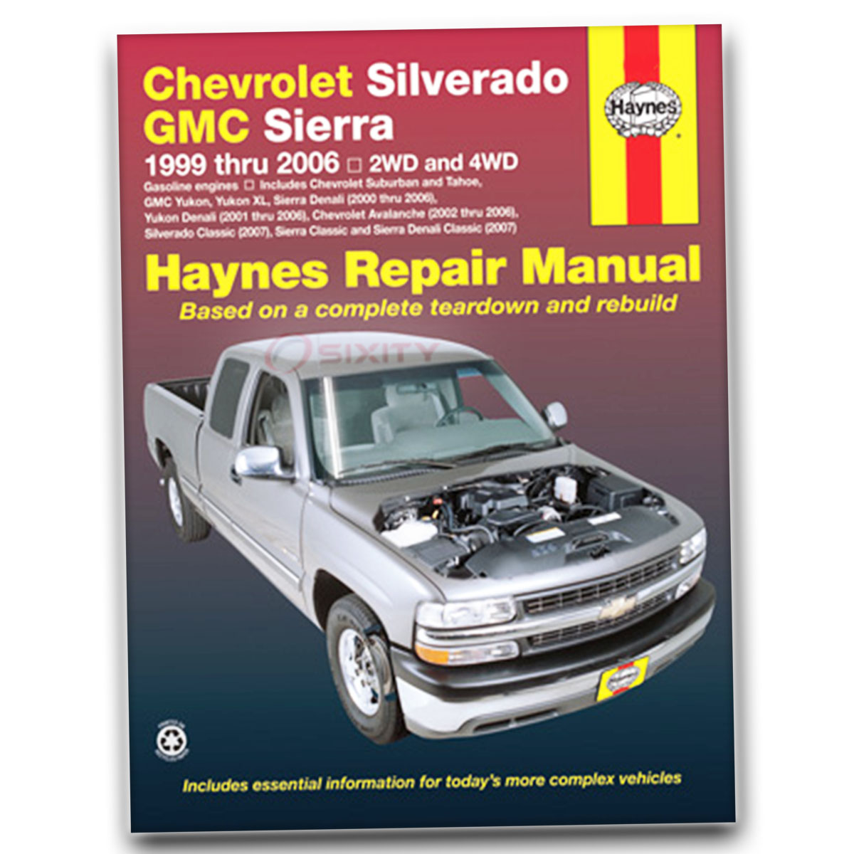 Haynes Repair Manual for Chevy Silverado 1500 HD LT Base LS Shop Service lb