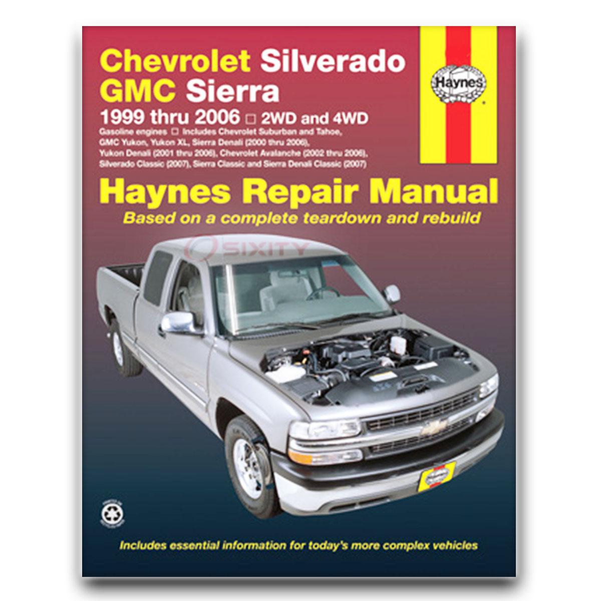 Haynes Repair Manual for Chevy Silverado 2500 Base WT LS LT Shop Service td