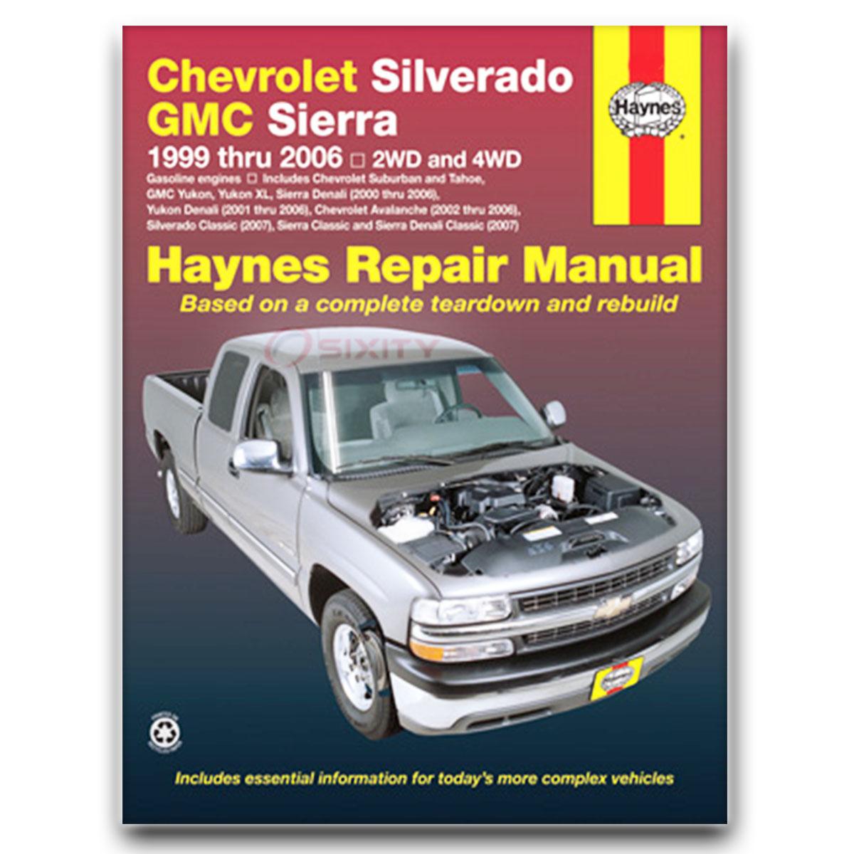 Haynes Repair Manual for Chevy Silverado 3500 Classic LT LS WT Base Shop nt