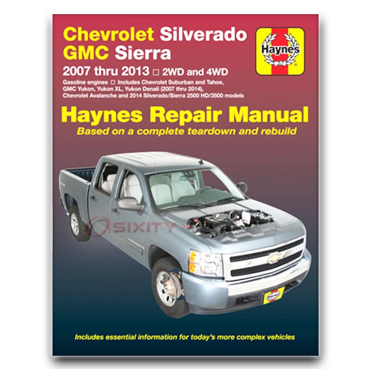 chevy silverado 1500 haynes repair manual hybrid lt wt ltz classic rh ebay com 2014 gmc sierra manual pdf 2014 gmc sierra manual pdf