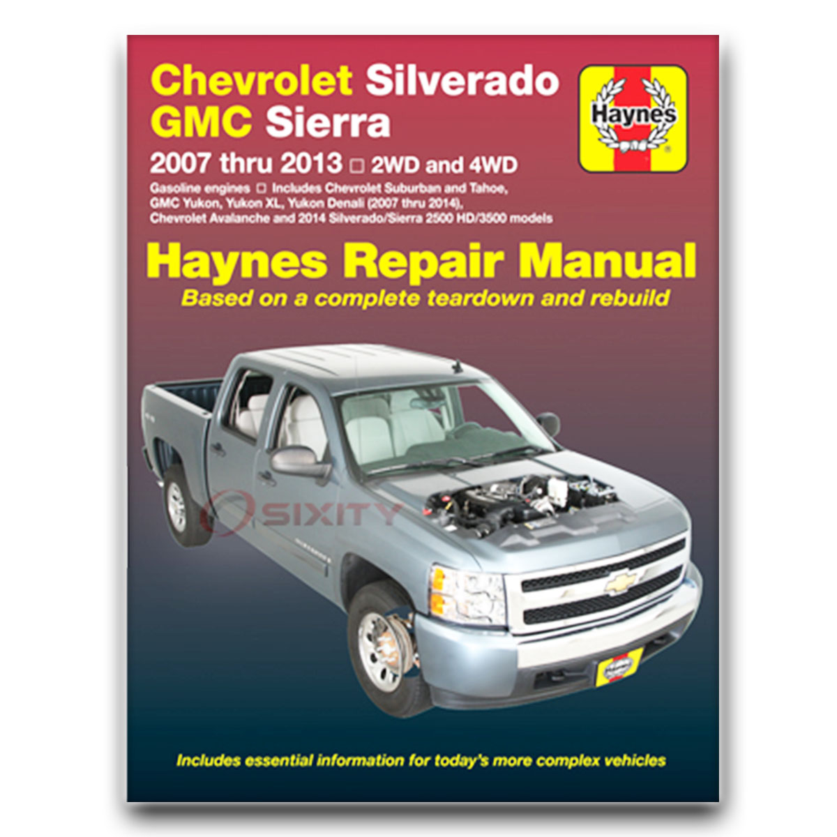 Haynes Repair Manual for Chevy Silverado 2500 HD LTZ Classic WT LS Shop ph