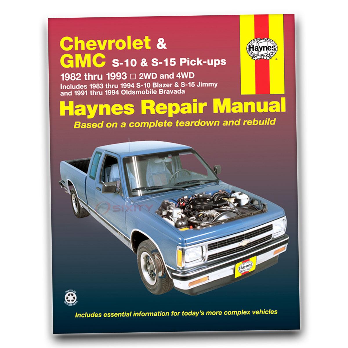 Chevy S10 Haynes Repair Manual Tahoe Baja El Sport Base