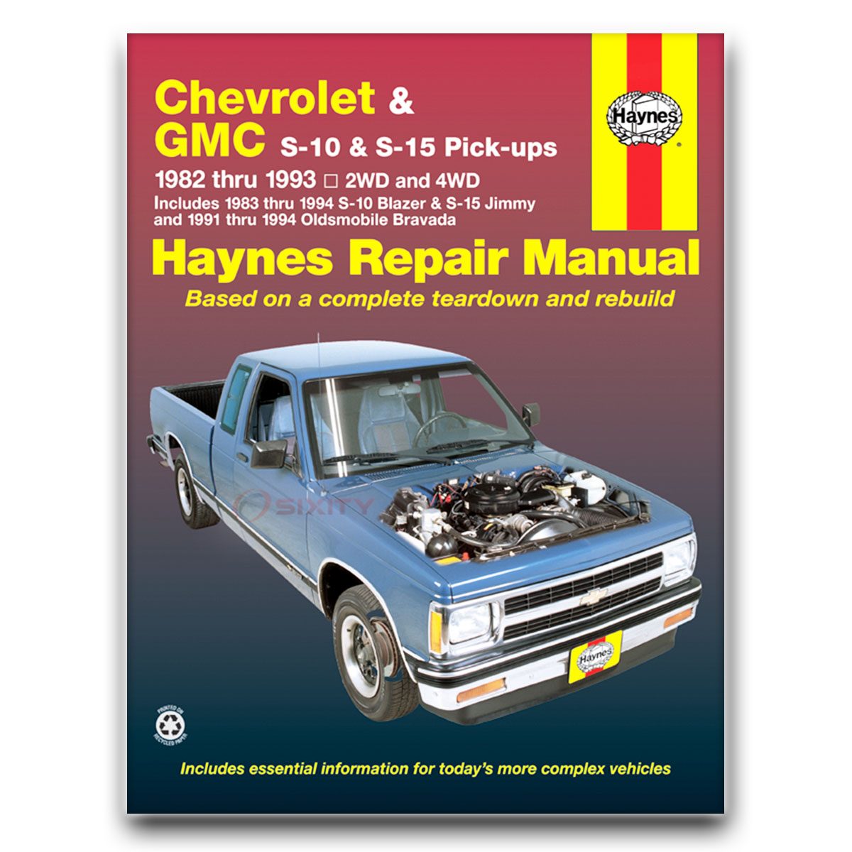 Haynes Repair Manual for Chevy S10 Blazer Tahoe LT Sport High Country Base  qt