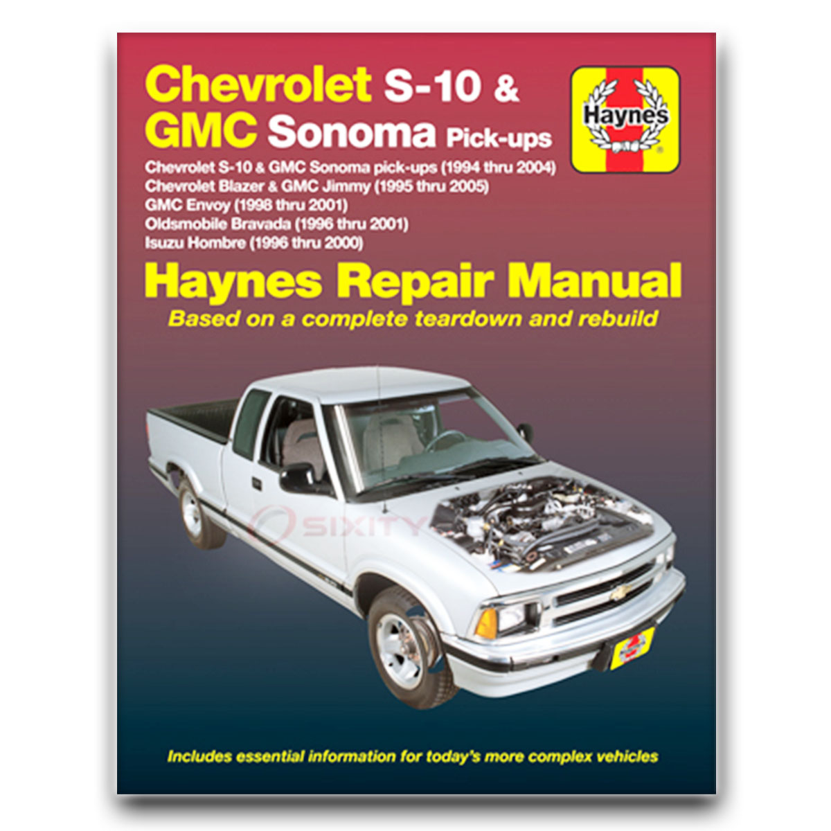 Haynes Repair Manual for Chevy S10 ZR2 SS Xtreme ZR5 LS Base Shop Service fs