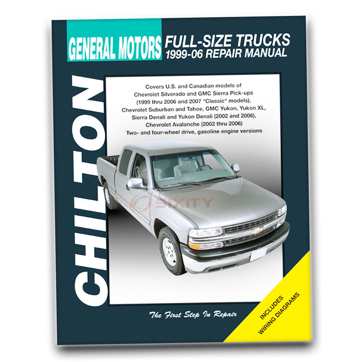 Chilton Repair Manual for Chevy Silverado 2500 HD LT WT LS Base Shop Service  qv