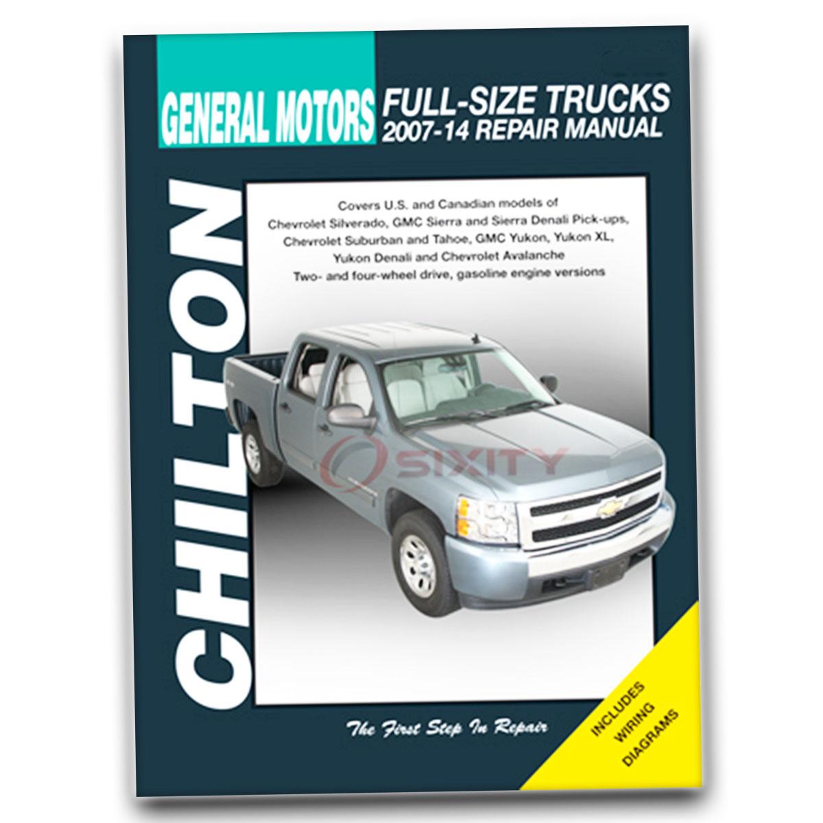Chevy Avalanche Chilton Repair Manual Ls Lt Ltz Shop