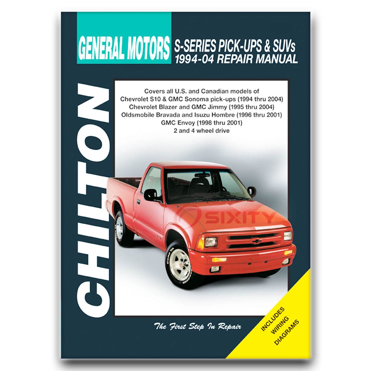 chevy s10 chilton repair manual base ss ls zr2 xtreme zr5 shop rh ebay com 1999 Chevrolet Blazer 1998 Chevrolet Blazer Inside