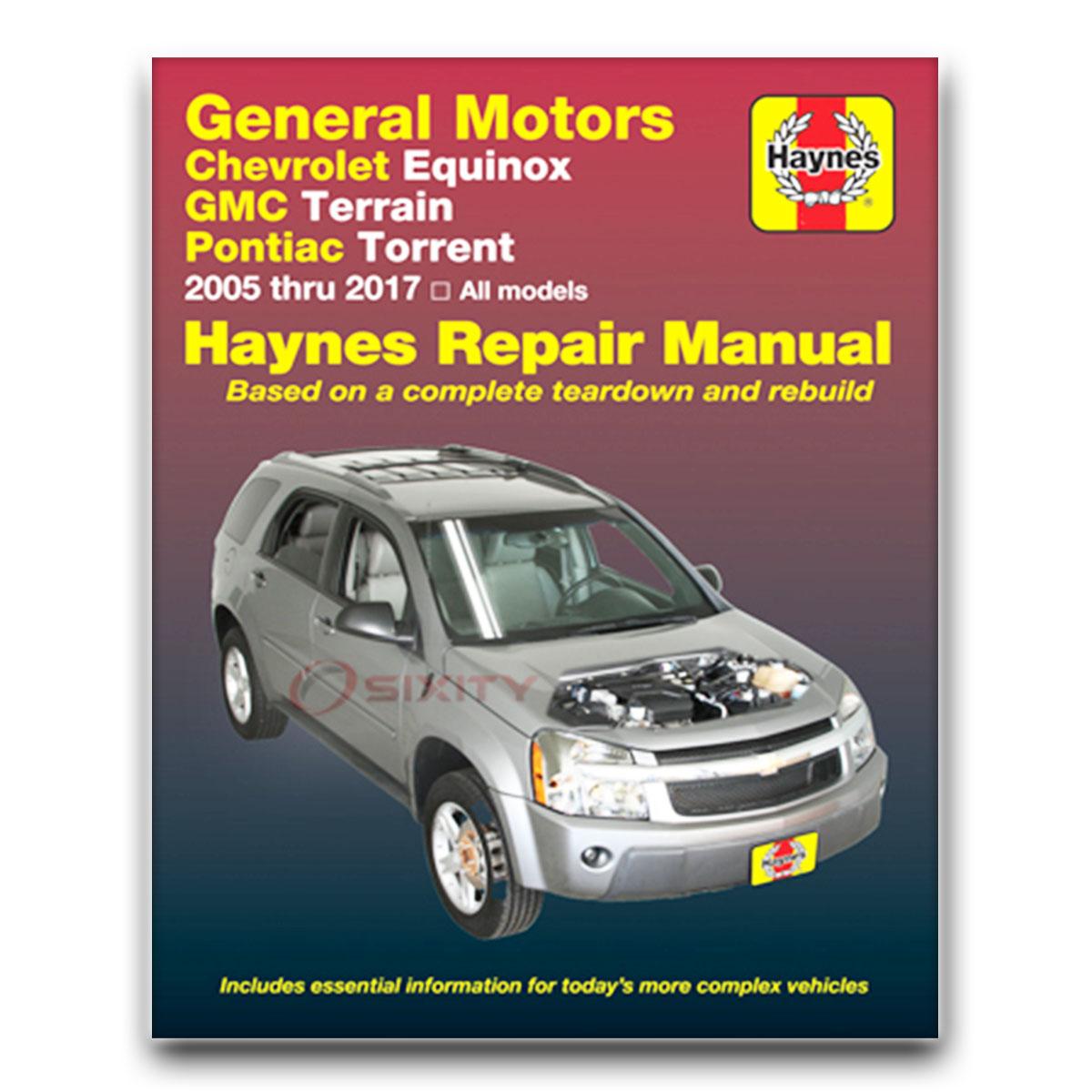 Haynes Repair Manual for Chevy Equinox Sport LT LS LTZ Shop Service Garage  nj