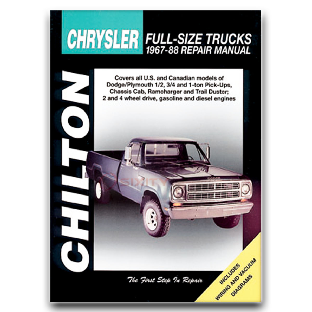 Dodge D200 Pickup Chilton Repair Manual Base Shop Service Garage Book Qn