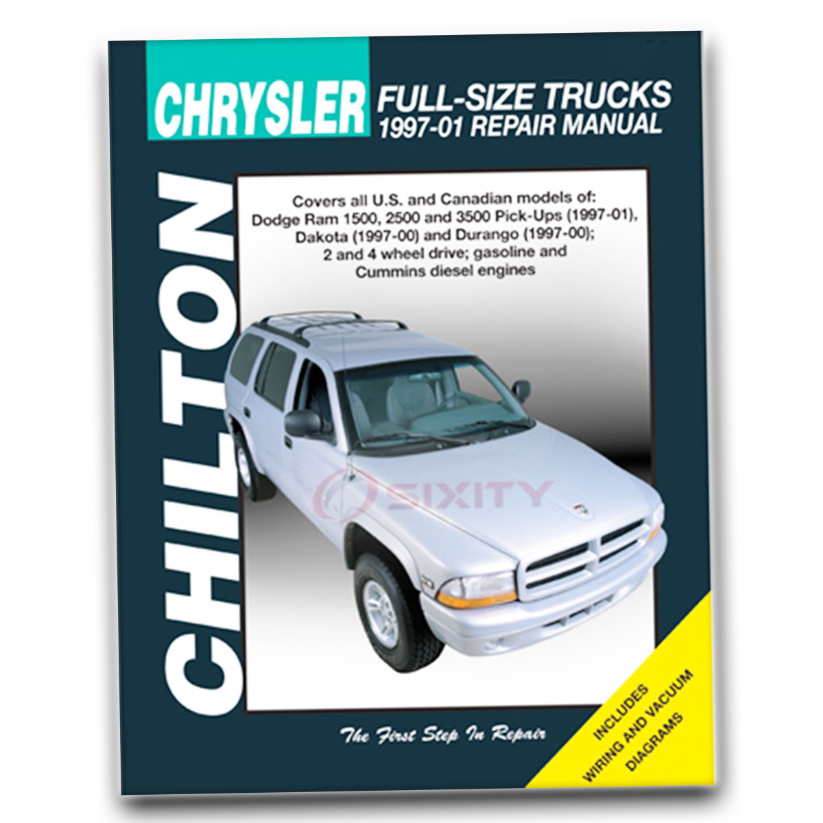 Chilton Repair Manual for Dodge Dakota Sport Base SLT R/T Shop Service qs