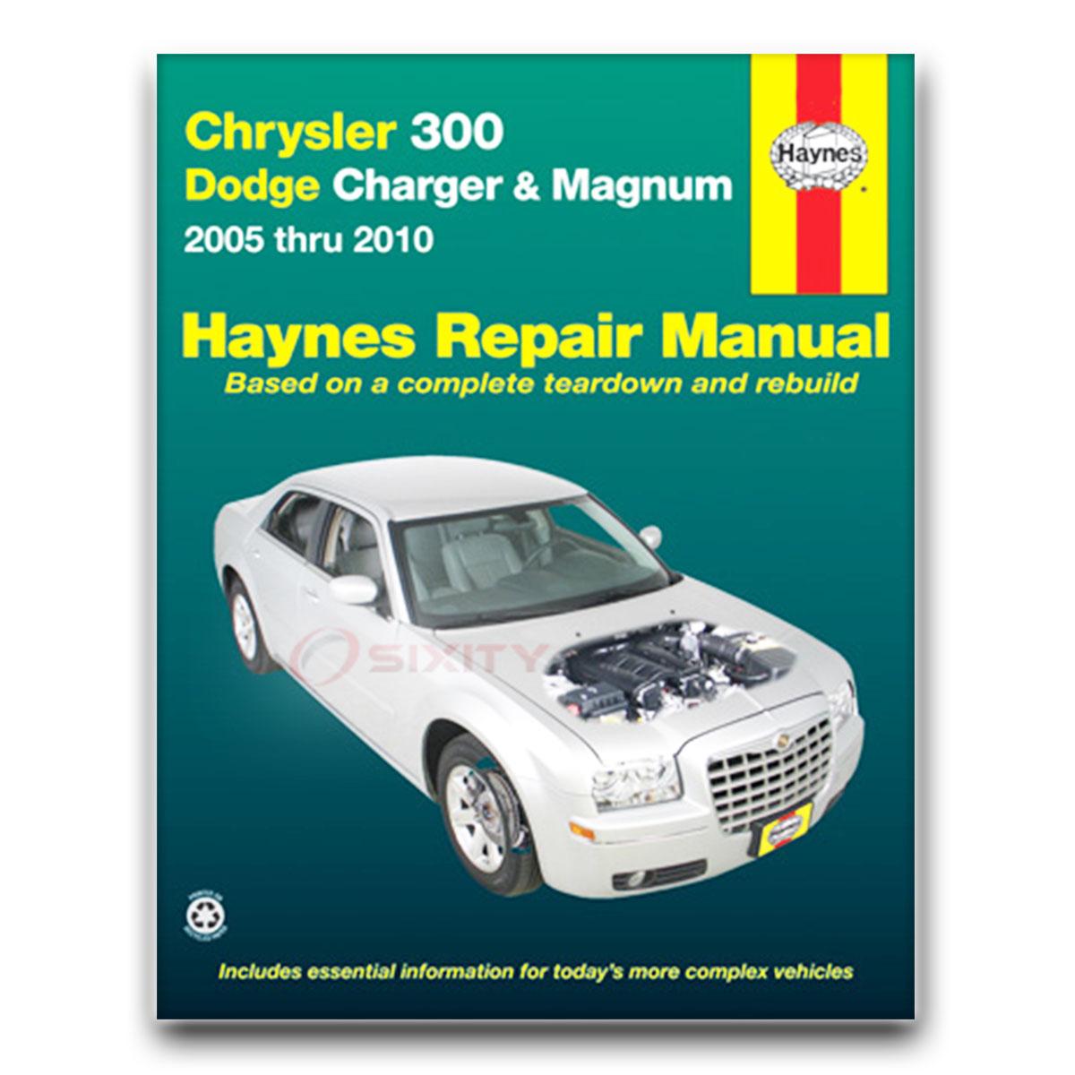 Haynes Repair Manual for Dodge Charger SRT8 R/T SXT SE Daytona Base Shop vf