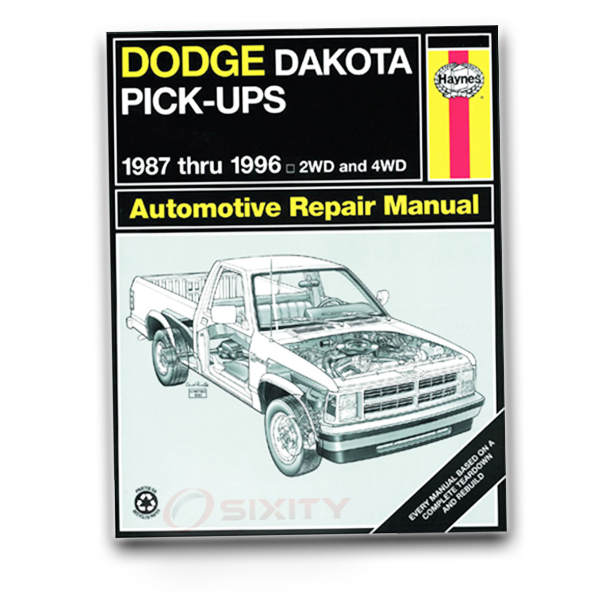 Haynes Repair Manual for Dodge Dakota SLT Base WS Sport LE SE Shelby Shop bo