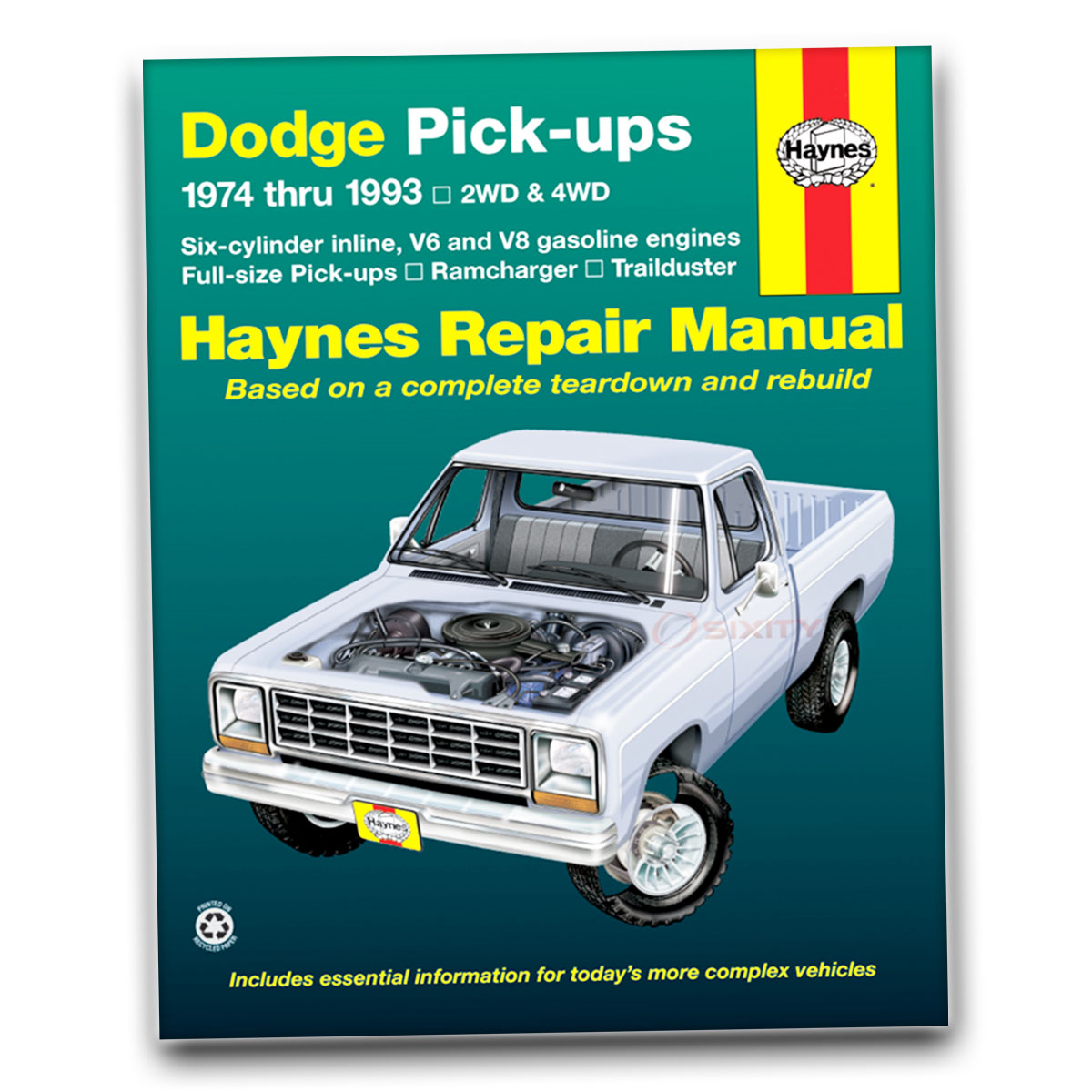 haynes repair manual for dodge d100 custom shop service garage book rh ebay  com Dodge D150 Dodge D200