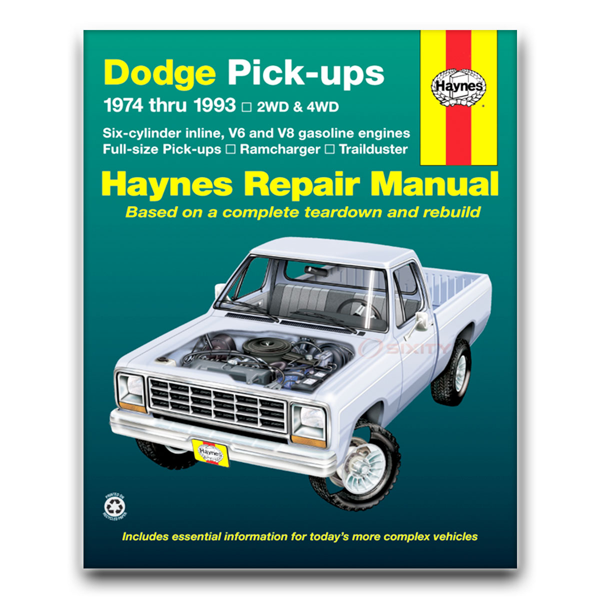 Haynes Repair Manual for Dodge W200 Base Shop Service Garage Book sy