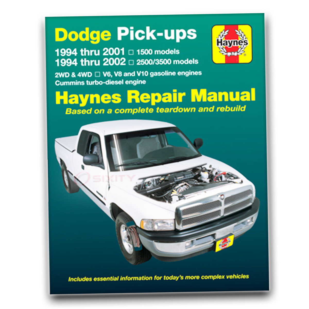 Haynes Repair Manual for Dodge Ram 2500 Base Shop Service Garage Book rf
