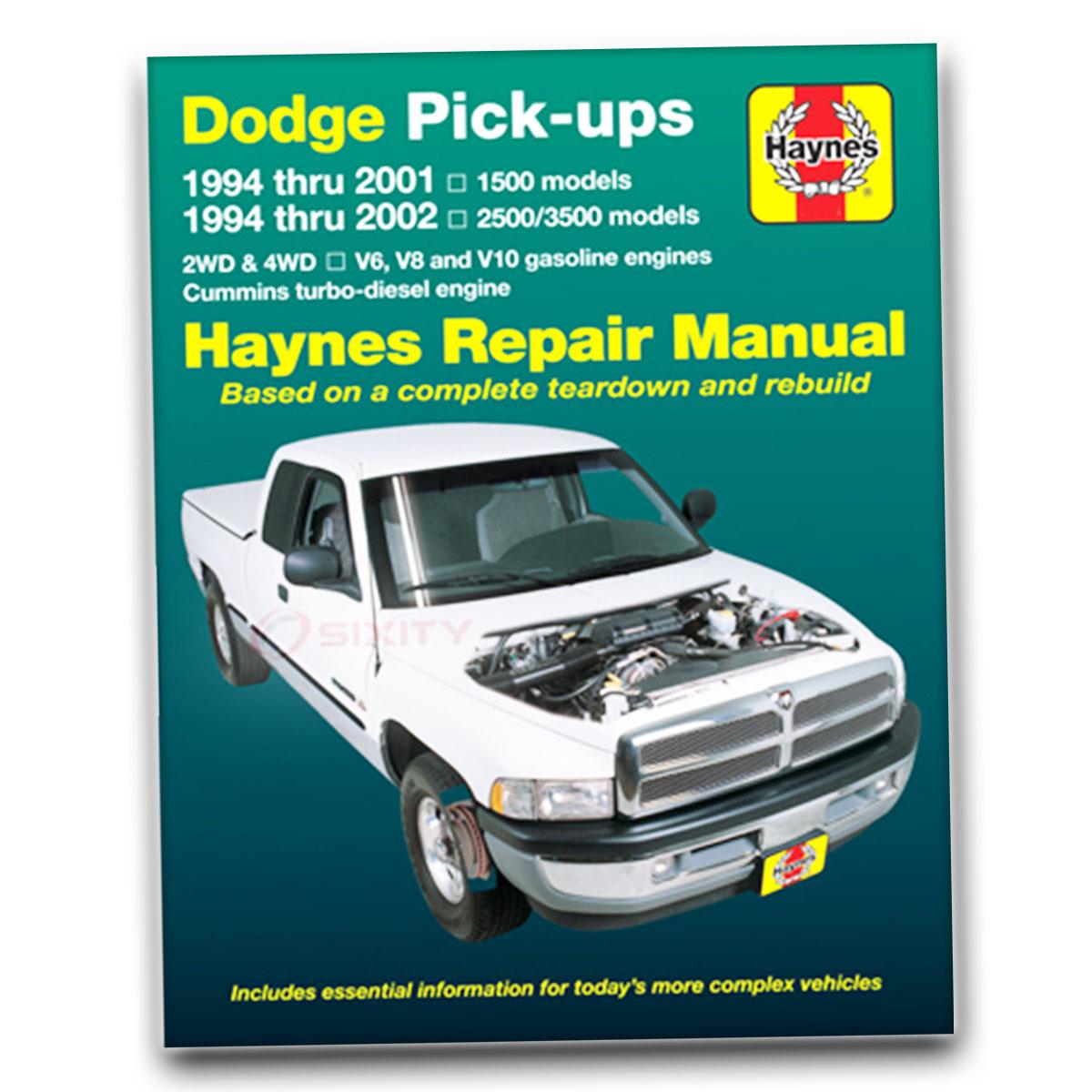 dodge ram 3500 haynes repair manual base shop service. Black Bedroom Furniture Sets. Home Design Ideas
