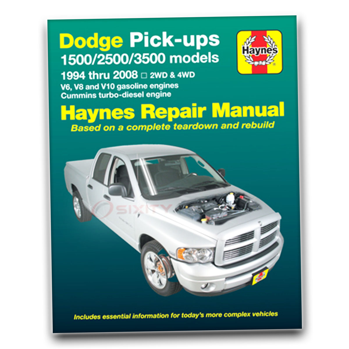 Haynes Repair Manual for Dodge Ram 1500 Sport TRX4 ST SXT WS SLT Laramie ws