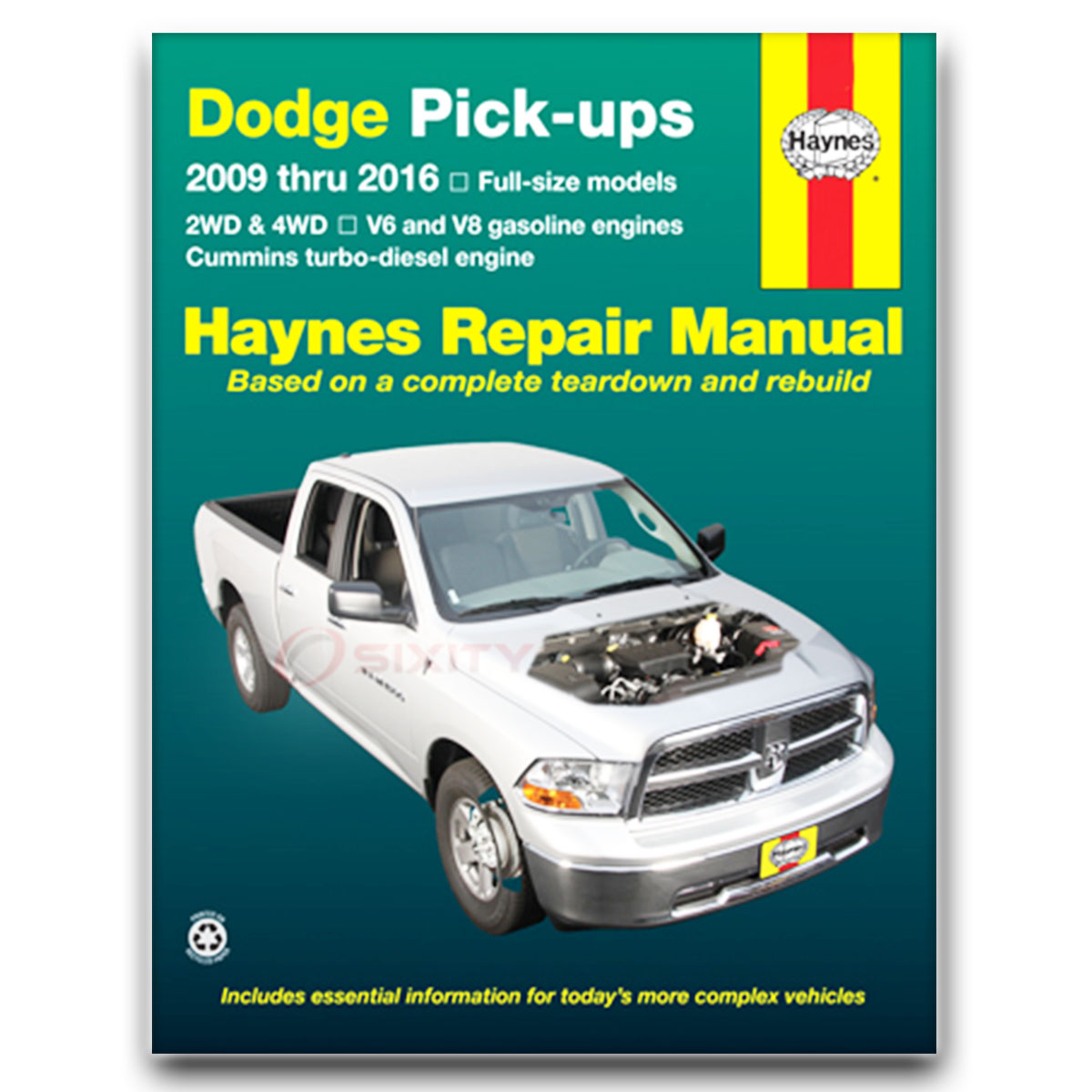 haynes repair manual for dodge ram 1500 laramie slt sport trx4 st rh ebay  com 2009 dodge ram 1500 repair manual download 2009 dodge ram 1500 haynes  repair ...