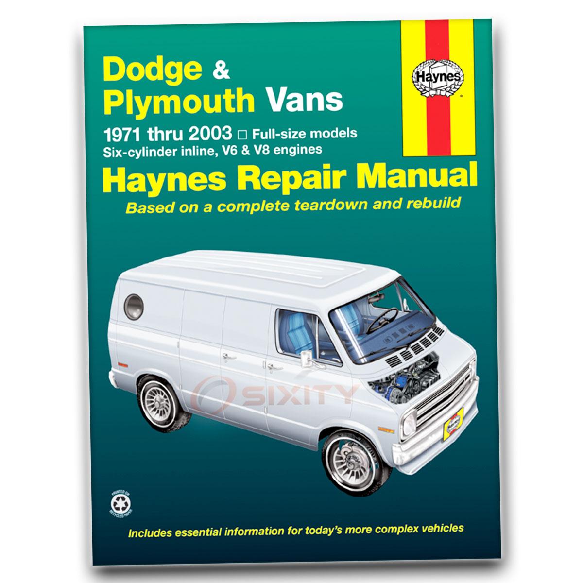 haynes repair manual for dodge b300 van sportsman base maxi wagon rh ebay  com Dodge B300. Motorhome Dodge B300 Motorhome