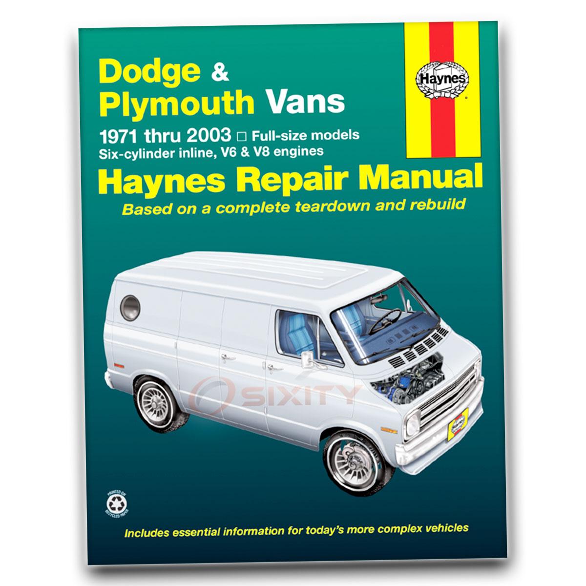 Haynes Repair Manual for Dodge B350 Base Shop Service Garage Book ij