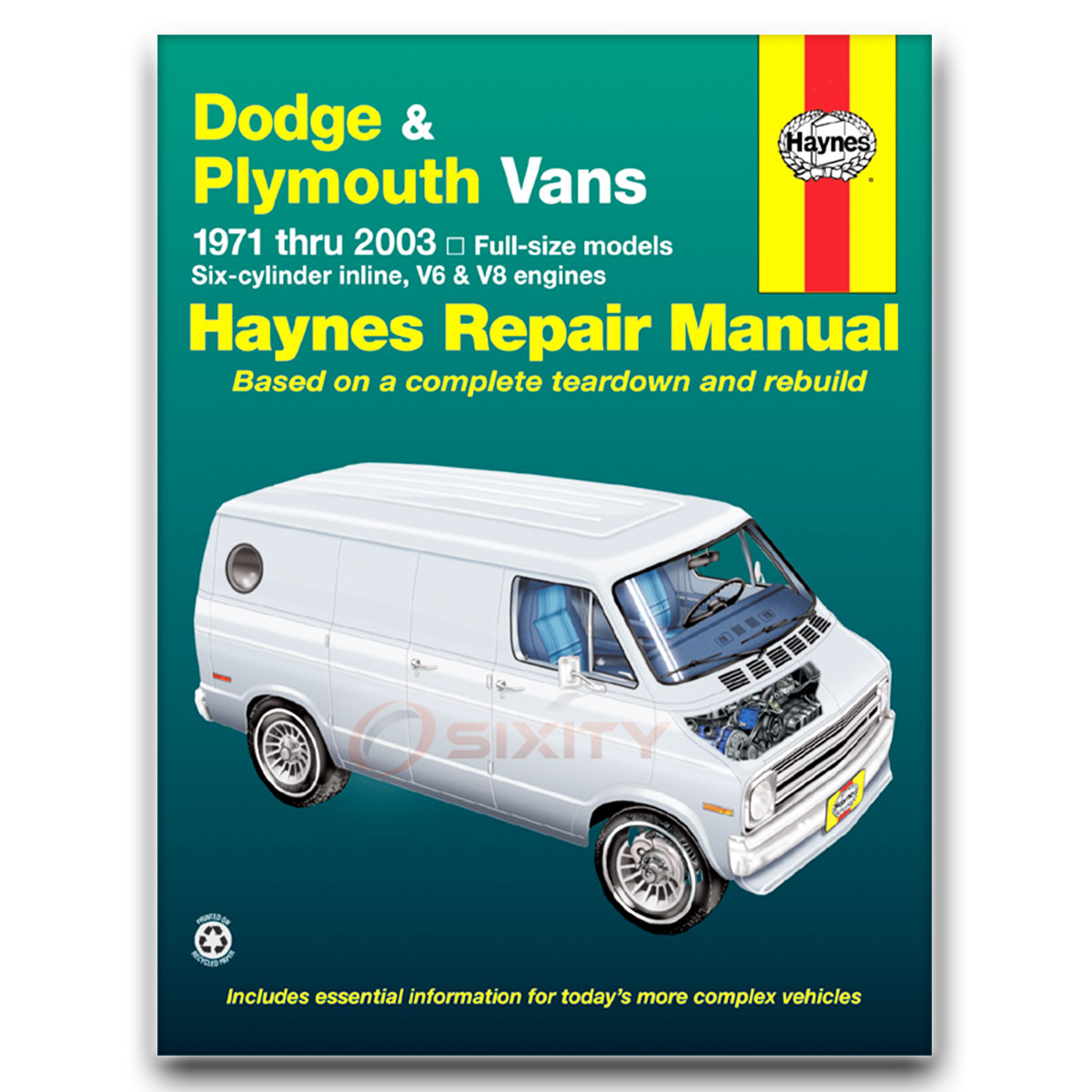 Haynes Repair Manual for Dodge Ram 1500 Van Base Shop Service Garage Book yw